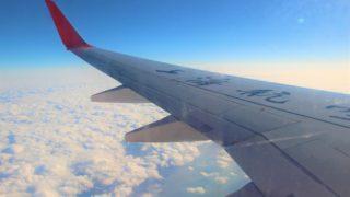 上海航空機内から雲を見ます