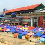 マレーシアのクアラルンプールの屋台村