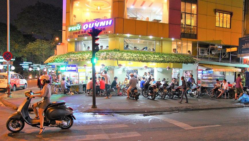 ベトナムのホーチミンの街角の写真