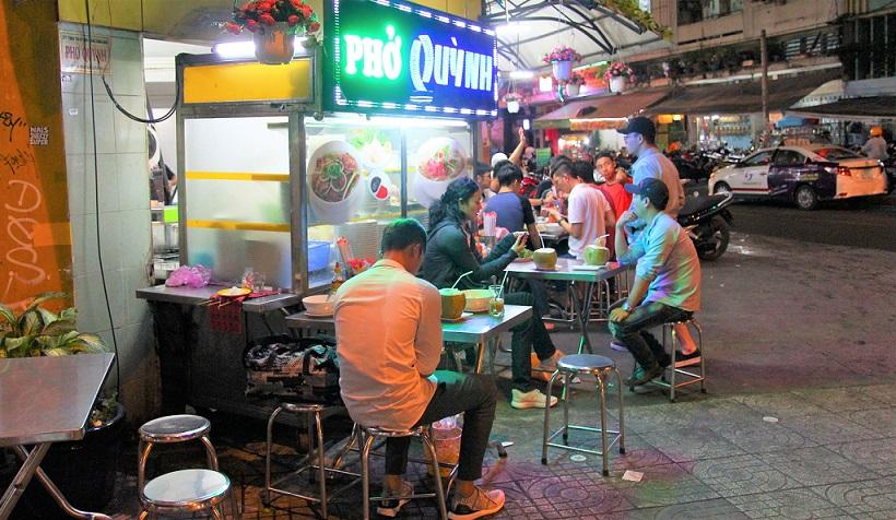 ベトナムのホーチミンの安食堂の写真