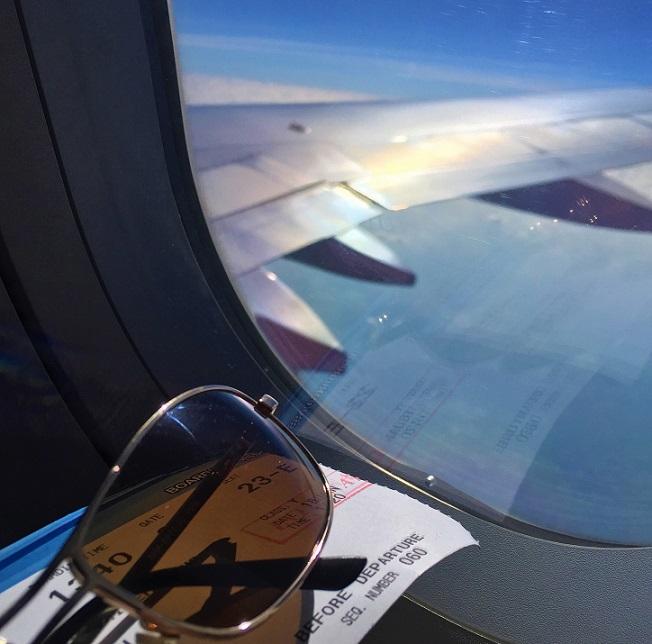 ベトナムホーチミン空港へ向かう機内からの写真