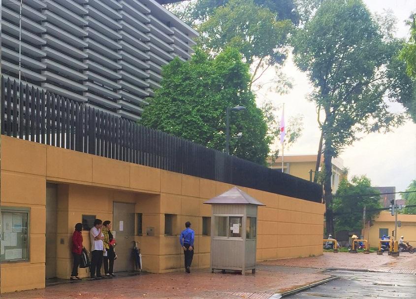 ベトナムのホーチミンの日本総領事館の写真