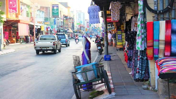 チェンマイの街並みの写真ータイ旅行