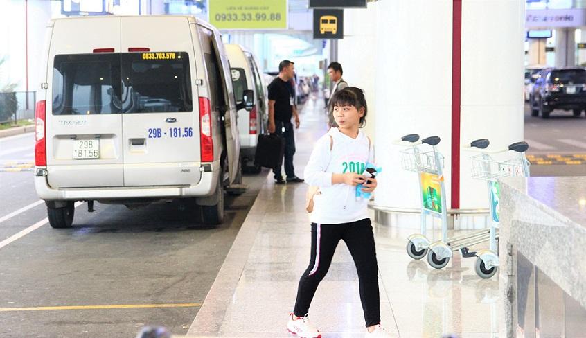 ハノイ(ノイバイ)空港のバス停の写真【ベトナム旅行】
