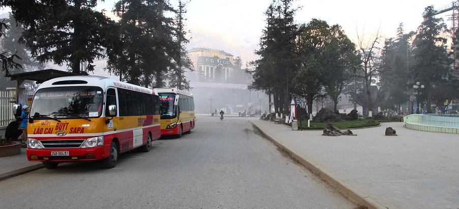 サパのバス停ーベトナム旅行