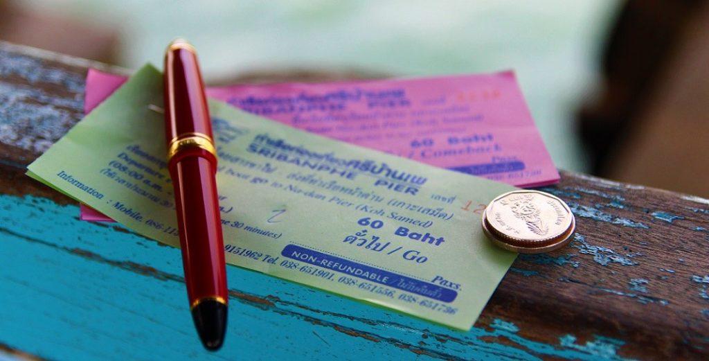 バンペー港からサメット島のダナン港までのフェリーのチケット