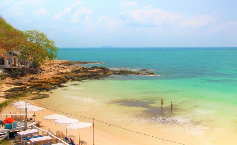 タイの秘境のサメット島ビーチの写真