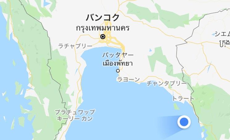 バンコクから秘島のクート島へ観光旅行