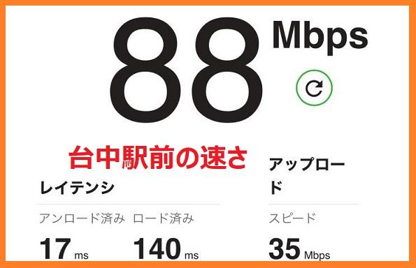 台湾の旅行者向けの遠傅電信のSIMカードの台中駅前の速さ