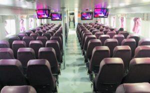 フーコック島へ行くフェリー、スーパードンの船内の写真