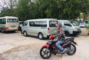 フーコック島のバイボン港のユーンドン市内行きのミニバス|バスはちゃんといます
