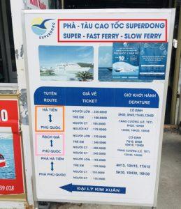 フーコック島フェリーのチケット売り場|ベトナム旅行