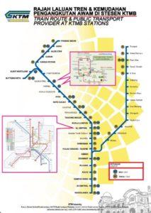 マレー鉄道の路線図