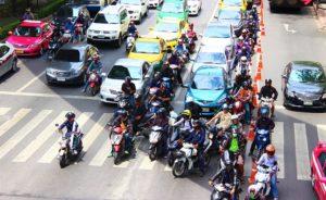 バンコクの渋滞の写真
