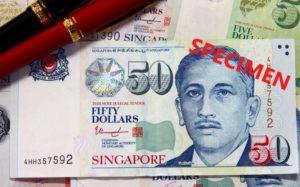 シンガポールのお金50ドル