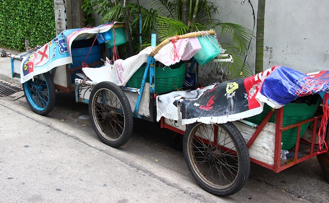 バンコクの行商の荷車