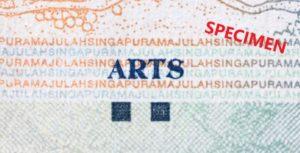 シンガポール50ドルのテーマは芸術