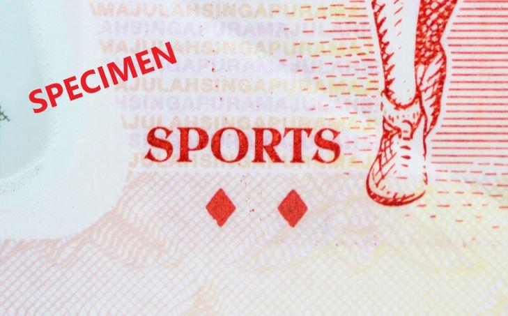 シンガポールの10ドル札のテーマはスポーツ