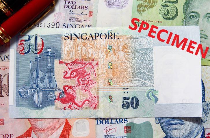 シンガポール50ドルの裏の写真