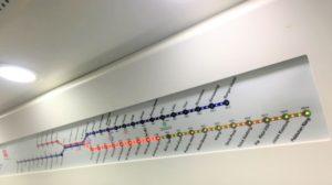 KTMマレーシアの電車の車内掲示板