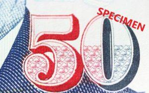 シンガポール50ドルの見本