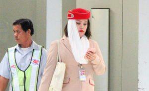 スワンナプーム空港のドバイ航空のCA|タイ旅行