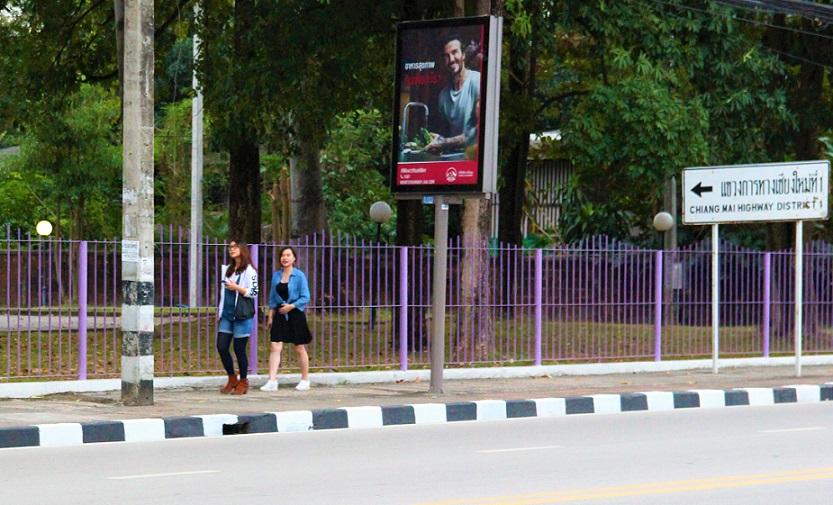 タイのチェンマイ大学は紫色のフェンスで囲われている