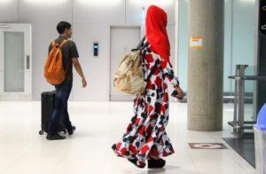 スワンナプーム空港で出会った若いイスラム系の女性 タイ旅行