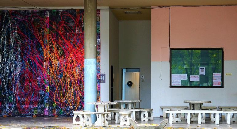 タイのチェンマイ大学の芸術学部の写真