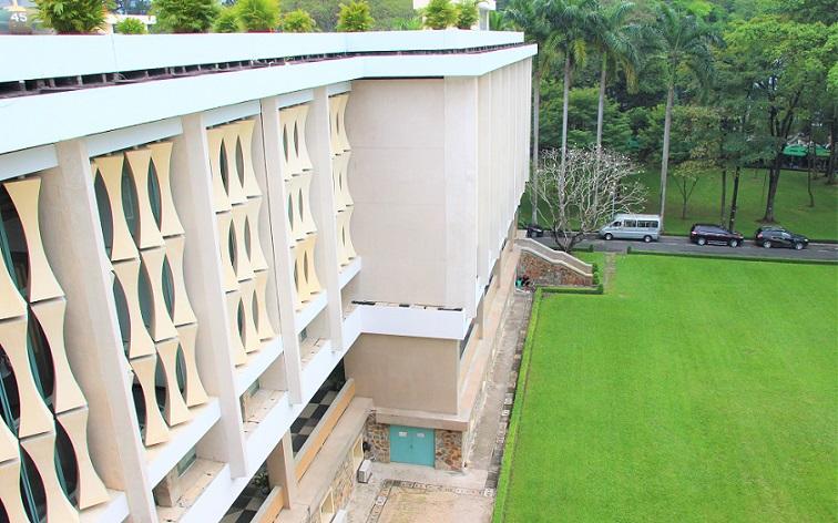統一会堂から外を見た写真|ベトナム旅行