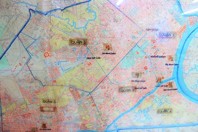 ベトナム戦争で実際に使われたホーチミンの地図