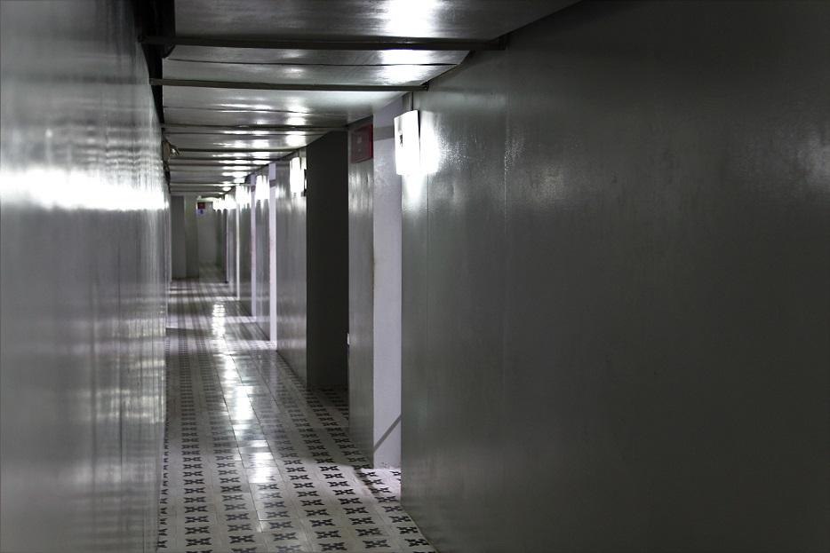 統一会堂の地下の廊下の写真|ホーチミン観光