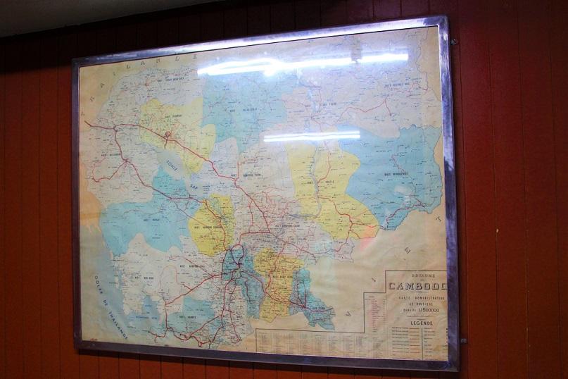 統一会堂の地下基地に保存されている地図の写真|ホーチミン観光
