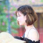ハノイの旧市街近くのホアンキエム湖のベトナム美女【ベトナム旅行】