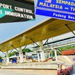 マレーシアとタイの国境のパダンベサール駅のホームの写真