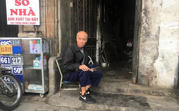 ハノイの街歩きで出会った古老の武術師匠の写真。若い時はかなり荒れていたらしい。